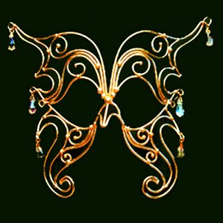 bronze butterfly mask