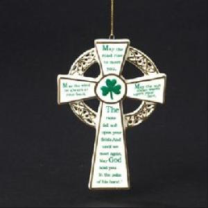 porcelain cross ornament