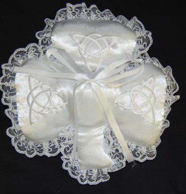 shamrock ring pillow