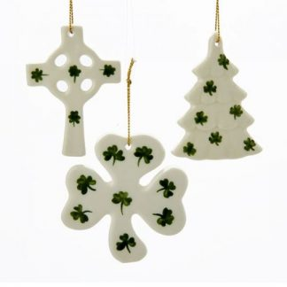shamrock ornament set