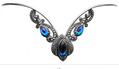 Blue Athena Diadem Tiara