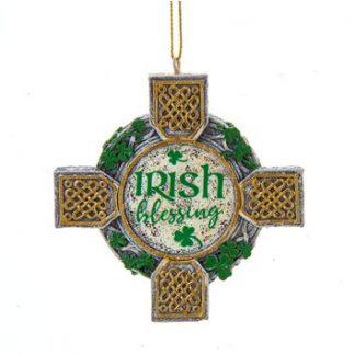 Celtic Cross Blessing Ornament